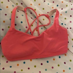 Peach Lululemon Sports Bra